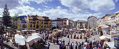 Village of Nava in fiestas
